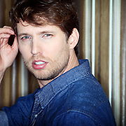 """Jon Heder, native Salemite and man of many sultry poses, has a new animated television series inspired by his seminal movie, """"Napoleon Dynamite."""" The actor poses in his hotel room at Portland's Hotel Vintage on Friday, Feb. 17, 2012."""