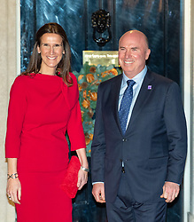 © Licensed to London News Pictures. 03/12/2019. London, UK. Belgium Prime Minister Sophie Wilmes and spouse Christoper Stone arrive in Downing Street as NATO Leaders' gather for a reception hosted by United Kingdom Prime Minister Boris Johnson.<br /> Allied leaders are in London for a NATO summit. The summit also marks NATO's 70th anniversary.<br /> Photo credit: Peter Manning/LNP<br /> <br /> <br /> .