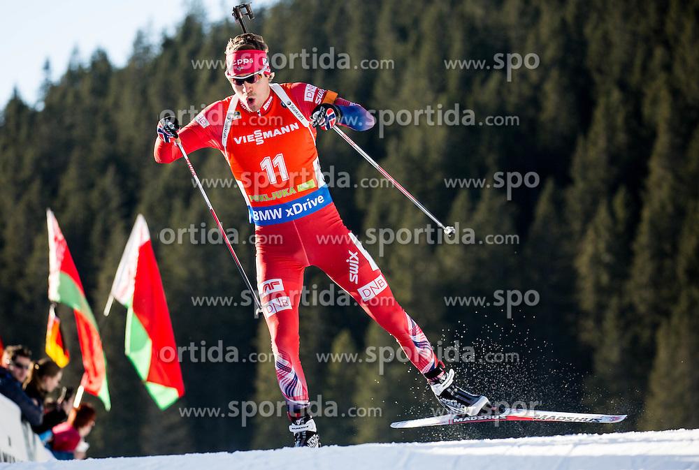Emil Hegle Svendsen (NOR) during Men 12,5 km Pursuit at day 3 of IBU Biathlon World Cup 2015/16 Pokljuka, on December 19, 2015 in Rudno polje, Pokljuka, Slovenia. Photo by Vid Ponikvar / Sportida