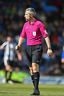 Referee Sebastian Stockbridge during the EFL Sky Bet League 2 match between Chesterfield and Notts County at the b2net stadium, Chesterfield, England on 25 March 2018. Picture by Jon Hobley.
