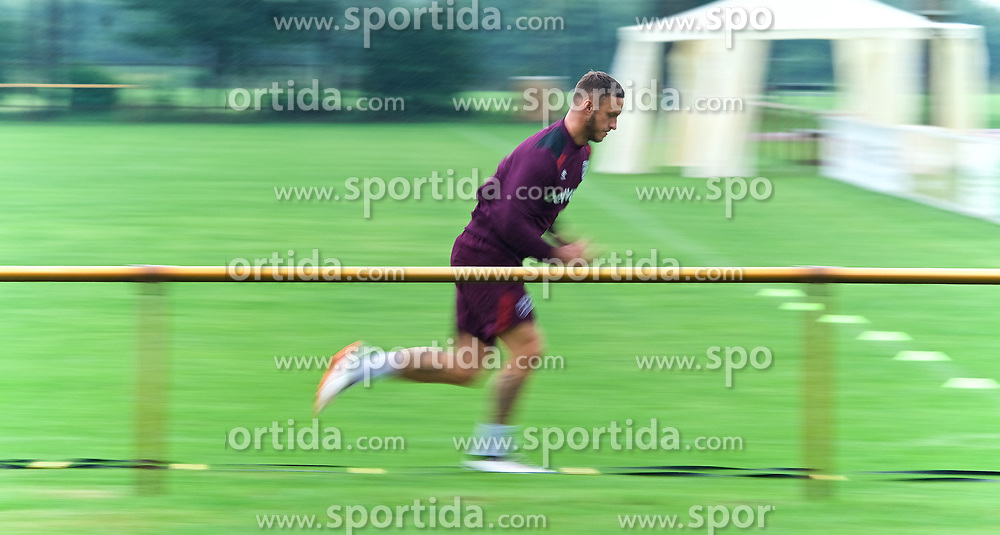 25.07.2017, Trainingsplatz TuS Bothel, Bothel, GER, Trainingslager, West Ham United, im Bild Marco Arnautovic beim Sprint // during a trainingsession at the trainingscamp of the English Premier League Football Club West Ham United at the Trainingsplatz TuS Bothel in Bothel, Germany on 2017/07/25. EXPA Pictures © 2017, PhotoCredit: EXPA/ Andreas Gumz<br /> <br /> *****ATTENTION - OUT of GER*****