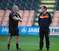 Blackpool manager Gary Bowyer before kick off<br /> <br /> Photographer Craig Mercer/CameraSport<br /> <br /> Football - The EFL Sky Bet League Two - Barnet v Blackpool - Tuesday 16th August 2016 - The Hive Stadium - London<br /> <br /> World Copyright © 2016 CameraSport. All rights reserved. 43 Linden Ave. Countesthorpe. Leicester. England. LE8 5PG - Tel: +44 (0) 116 277 4147 - admin@camerasport.com - www.camerasport.com