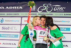 Winner Rigoberto Uran of Team EF Education Cannondale celebrates during trophy ceremony after the 3rd Stage of 25th Tour de Slovenie 2018 cycling race between Slovenske Konjice and Celje (175,7 km), on June 15, 2018 in  Slovenia. Photo by Vid Ponikvar / Sportida