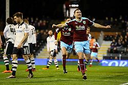 Goal, Sam Vokes of Burnley scores, Fulham 0-1 Burnley - Mandatory by-line: Jason Brown/JMP - Mobile 07966 386802 08/03/2016 - SPORT - FOOTBALL - Fulham, Craven Cottage - Fulham v Burnley - Sky Bet Championship