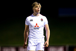Ollie Hassell-Collins of England U20 - Mandatory by-line: Robbie Stephenson/JMP - 22/02/2019 - RUGBY - Zip World Stadium - Colwyn Bay, Wales - Wales U20 v England U20 - Under-20 Six Nations