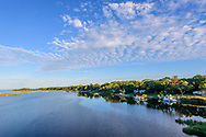 Peconic River and Flanders Bay, Flanders,  Long Island, New York