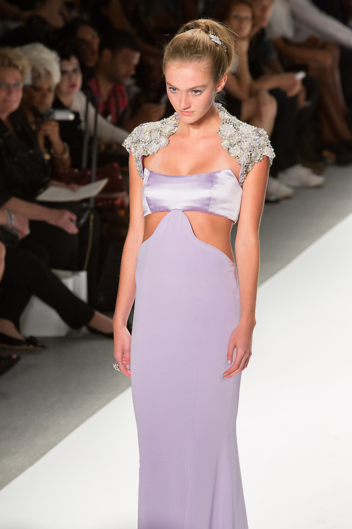 Lilac gown with cutouts at the waist. By Zang Toi, shown at his Spring 20132 Fashion Week show in New York.