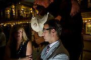Brussels, Belgium, Jul 08, 2009, Open VLD, diner at the Brussels stripmuseum, ©Christophe VANDER EECKEN