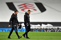 Football - 2020 / 2021 EFL Cup - Round 3 - Fulham vs Sheffield Wednesday<br /> <br /> Sheffield Wednesday manager Garry Monk at half time, at Craven Cottage.<br /> <br /> COLORSPORT/ASHLEY WESTERN