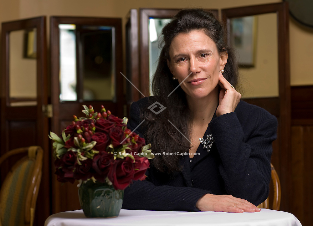 Writer Isabel Fonseca, wife of British writer Marin Amis, has has a new novel coming out in April. Photographed at the River Cafe in Brooklyn, NY.