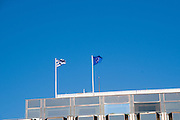 Greek and European union flags, Athens, Greece