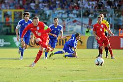Wayne Rooney of England (Manchester United) scores a penalty to equal Sir Bobby Charlton's goals record for England  - Mandatory byline: Joe Meredith/JMP - 07966386802 - 05/09/2015 - FOOTBALL- INTERNATIONAL - San Marino Stadium - Serravalle - San Marino v England - UEFA EURO Qualifers Group Stage