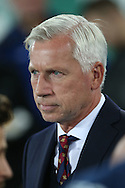 Crystal Palace Manager Alan Pardew looks on from the touchline. Premier league match, Everton v Crystal Palace at Goodison Park in Liverpool, Merseyside on Friday 30th September 2016.<br /> pic by Chris Stading, Andrew Orchard sports photography.