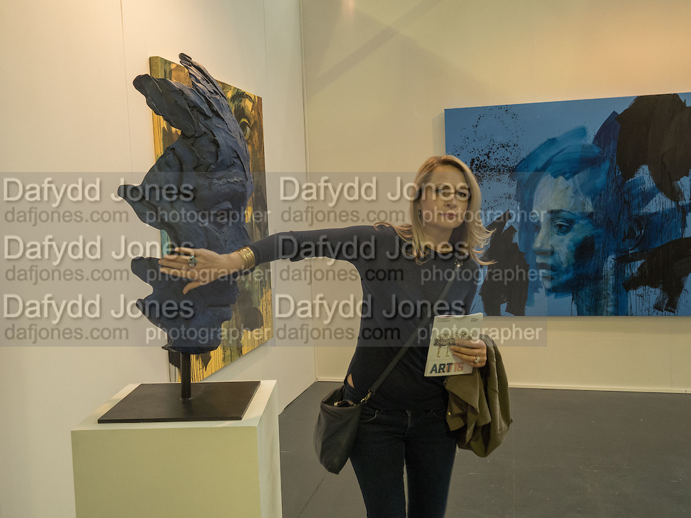 TABITHA GERBER, SCULPTURE BY LIONEL SMIT, ROOK AND RAVEN, Art16. Olympia. 19 May 2016