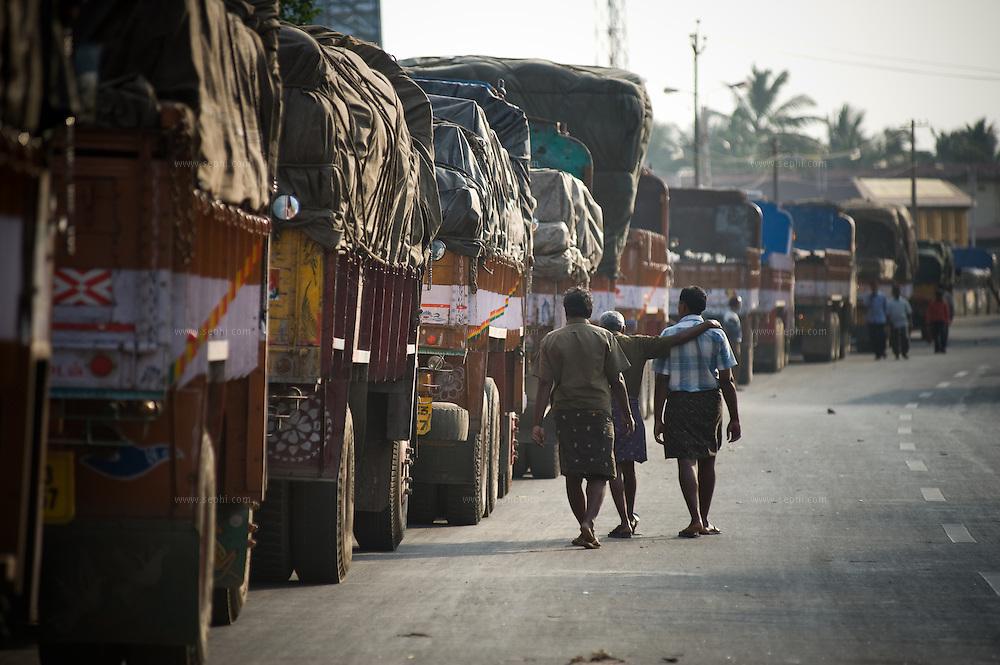 Walayar check post between the state of Kerala and Tamil Nadu