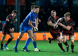 Ross Byrne of Leinster<br /> <br /> Photographer Simon King/Replay Images<br /> <br /> Guinness PRO14 Round 10 - Dragons v Leinster - Saturday 1st December 2018 - Rodney Parade - Newport<br /> <br /> World Copyright © Replay Images . All rights reserved. info@replayimages.co.uk - http://replayimages.co.uk