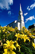 Historic Chestnut Baptist Church in Camden, Maine