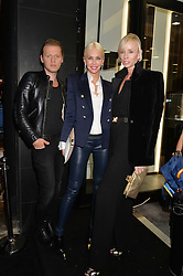 Centre, Amanda Cronin at the opening of the new Gismondi Jewellery boutique, 14 Albermarle Street, London on 9th October 2014.