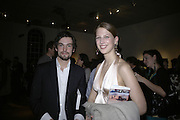Henry Hemming and Lady Gabriella Windsor, Misadventure In the Middle East. Travels As a Tramp, Artist and Spy by Henry Hemming. Book launch and exhibition. Paradise Row. London. E2.  -DO NOT ARCHIVE-© Copyright Photograph by Dafydd Jones. 248 Clapham Rd. London SW9 0PZ. Tel 0207 820 0771. www.dafjones.com.