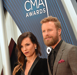 Celebrities arrive for the 52nd Annual CMA Awards at the Bridgestone Arena. 14 Nov 2018 Pictured: Cassidy Black and Dierks Bentley. Photo credit: MBS/MEGA TheMegaAgency.com +1 888 505 6342