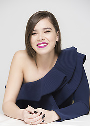 November 10, 2016 - Hollywood, California, U.S. - HAILEE STEINFELD promotes 'Edge of Seventeen' (2016). Hailee Steinfeld (born December 11, 1996) is an American actress and singer. She is known for her portrayal of Mattie Ross in the 2010 film True Grit, for which she was nominated for the Academy Award for Best Supporting Actress, the Screen Actors Guild Award for Outstanding Performance by a Female Actor in a Supporting Role, and the BAFTA Award for Best Actress in a Leading Role. She also played Petra Arkanian in the 2013 sci-fi film Ender's Game. She portrayed Juliet Capulet in the 2013 film adaptation of William Shakespeare's romantic tragedy Romeo & Juliet, Zooey Renner in the 2014 crime film 3 Days to Kill, and Violet in Begin Again. In 2015, she played Emily Junk in the musical comedy Pitch Perfect 2. (Credit Image: © Armando Gallo/Arga Images via ZUMA Studio)