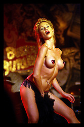 26 August  2006 - French Quarter - New Orleans - Louisiana. <br />Bustout Burlesque. Tipitina's club in the French Quarter.<br />'Stormy'' wows the audience with her seductive moves.<br />Credit; Charlie Varley/Sipa Press.