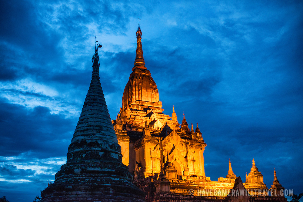 BAGAN, MYANMAR--Gawdawpalin Temple is the second tallest of the temples in the Bagan Archeological Zone and is located in the zone's northwest corner in Old Bagan. It is also known as Gaw-daw-palin Temple. It was built from 1174 to 1227.