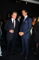 Left to right, actor MICHAEL DOUGLAS and CROWN PRINCE PAVLOS OF GREECE at the Fortune Forum Dinner held at Old Billingsgate, 1 Old Billingsgate Walk, 16 Lower Thames Street, London EC3R 6DX<br />