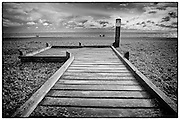 Boardwalk to the shore at Dungeness, Kent