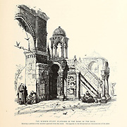 The Summer Pulpit Platform of the Dome of the Rock, Jerusalem. from the book Picturesque Palestine, Sinai, and Egypt By  Colonel Wilson, Charles William, Sir, 1836-1905. Published in New York by D. Appleton and Company in 1881  with engravings in steel and wood from original Drawings by Harry Fenn and J. D. Woodward Volume 1