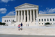 WASHINGTON - JUNE 30, 2019: The Supreme Court of the United States is seen from First Street NE on June 30, 2019, in Washington, D.C.