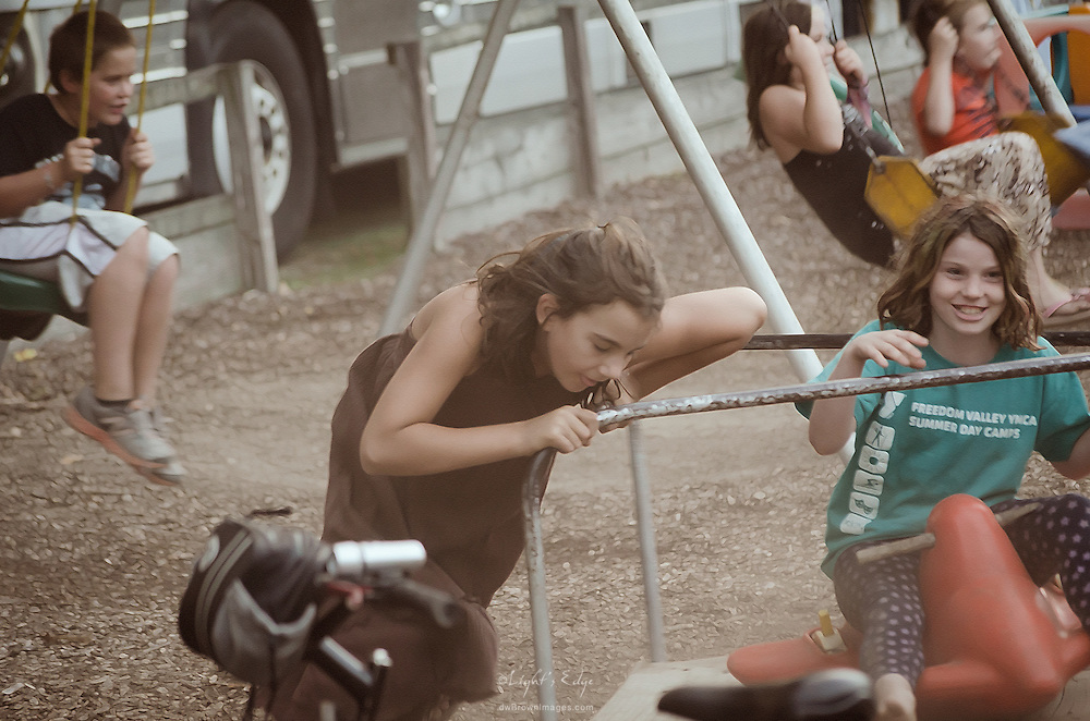 Kids having fun at the autumn 2012 Camp Jam in The Pines, a southern New Jersey music festival.