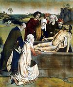 The Entombment'.   Dierick or Dirk  Bouts (c1415-1475) Dutch painter.