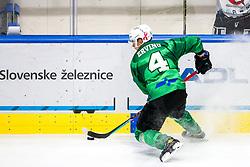 Joona Verner Erving of HK SZ Olimpija during ice hockey match between HK SZ Olimpija Ljubljana and HC Orli Znojmo in bet-at-home ICE Hockey League, on October 17, 2021 in Hala Tivoli, Ljubljana, Slovenia. Photo by Morgen Kristan / Sportida