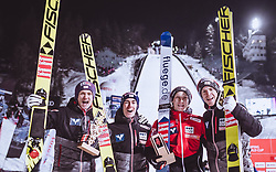 19.01.2019, Wielka Krokiew, Zakopane, POL, FIS Weltcup Skisprung, Zakopane, Herren, Teamspringen, im Bild Daniel Huber (AUT), Stefan Kraft (AUT), Jan Hoerl (AUT), Michael Hayboeck (AUT) // Daniel Huber of Austria Stefan Kraft of Austria Jan Hoerl of Austria Michael Hayboeck of Austria during the men's team event of FIS Ski Jumping world cup at the Wielka Krokiew in Zakopane, Poland on 2019/01/19. EXPA Pictures © 2019, PhotoCredit: EXPA/ JFK