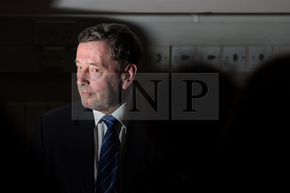 """© Licensed to London News Pictures . 13/02/2014 . Manchester , UK . Former Home Secretary and MP for Sheffield Brightside and Hillsborough , DAVID BLUNKETT , attends a discussion on Roma migration at The University of Manchester today (13th February 2014) . Mr Blunkett stated that tensions between Roma people and more established communities within the Page Hall area of Sheffield, where Roma migrants from Slovakia have settled , could spill over in to rioting if more wasn't done to help integration of the Roma community . The BBC quoted him as saying , """"We have got to change the behaviour and the culture of the incoming community, the Roma community, because there's going to be an explosion otherwise. We all know that."""" Some commentators have stated that Mr Blunkett is """"feeding Romaphobia"""" . Photo credit : Joel Goodman/LNP"""