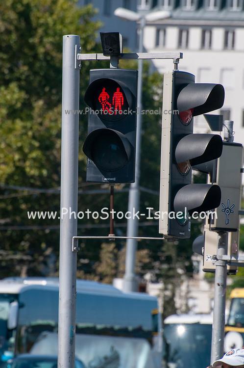 Pedestrian lights at zebra crossings in Vienna Austria