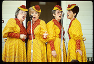 Ladies barbershop quartet, 'Chordettes,' performs for Spoon River Valley Scenic Drive;London Mills Illinois