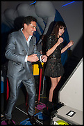 ANDRE BALAZ; ANNABELLE NEILSON, 2014 Serpentine's summer party sponsored by Brioni.with a pavilion designed this year by Chilean architect Smiljan Radic  Kensington Gdns. London. 1July 2014