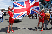 MOTORSPORT - F1 2013 - BRITISH GRAND PRIX - GRAND PRIX D'ANGLETERRE - SILVERSTONE (GBR) - 28 TO 30/06/2013 - PHOTO : FREDERIC LE FLOC'H / DPPI<br /> GIRL - GIRLS - AMBIANCE