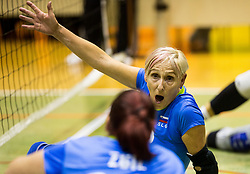 Danica Gosnak of Slovenia during friendly Sitting Volleyball match between National teams of Slovenia and China, on October 22, 2017 in Sempeter pri Zalcu, Slovenia. (Photo by Vid Ponikvar / Sportida)