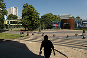 Coventry University grounds in the UK City of Culture 2021 on 23rd June 2021 in Coventry, United Kingdom. The UK City of Culture is a designation given to a city in the United Kingdom for a period of one year. The aim of the initiative, which is administered by the Department for Digital, Culture, Media and Sport. Coventry is a city which is under a large scale and current regeneration.