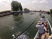 Henley on Thames. United Kingdom.   , passing through the Stewards Enclosure, 2013 Henley Royal Regatta, Henley Reach. Friday   [Mandatory Credit Peter Spurrier/ Intersport Images]