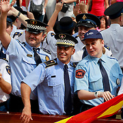 NLD/Amsterdam/20110806 - Canalpride Gaypride 2011, buienalndse politie agenten