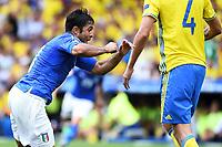 Esultanza Gol Eder Italia Goal celebration <br /> Toulouse 17-06-2016 Stade de Toulouse <br /> Football Euro2016 Italy - Sweden / Italia - Svezia Group Stage Group E<br /> Foto Massimo Insabato / Insidefoto