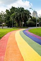 Mardi Gras celebrations the  Rainbow Path Prince Alfred Park  Sydney, Australia photo by Rhiannon Hopley