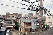 electrical wires in a residential neighborhood Japan