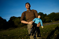Mr Spock on a day out near Southampton as prime minister boris johnson eases the lockdown rules photo by michael palmer