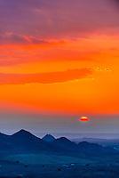 Sunset, Dana Biosphere Reserve, Wadi Feynan, Jordan.