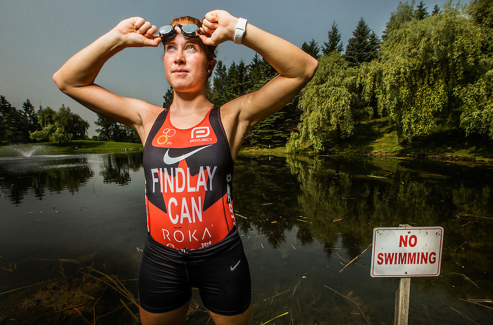 King City, Ontario - July 6, 2015 -- Paula Findlay -- Canadian Triathlete Paula Findlay poses for a picture ahead of the Pan American games in King City, Monday July 6, 2015.   (Mark Blinch for the Globe and Mail)